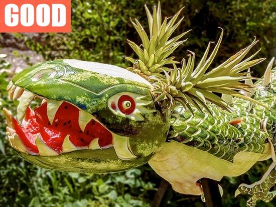 野菜の彫刻芸術